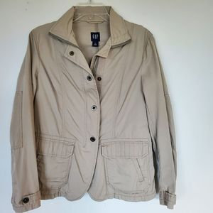 Gap Khaki Zip Up Cotton Jacket S